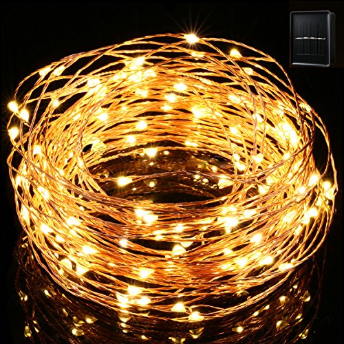 Starry String Lights Outdoor : Solar String Lights,Gotideal 100 LEDs Outdoor/Indoor Starry String Lights,Waterproof Solar Fairy S