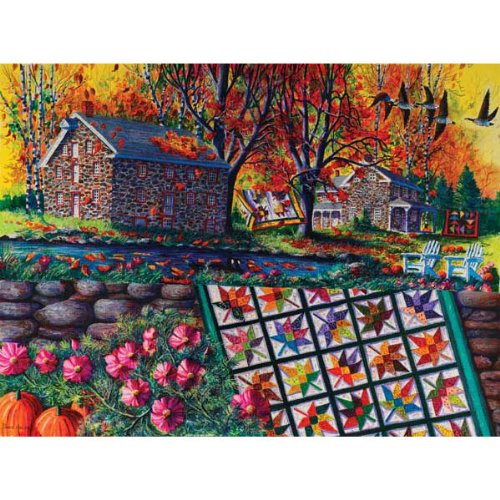 Cheap SunsOut Stone Mill Crossing in Autumn 1000pc Jigsaw Puzzle by Diane Phalen (B004HSAOJS)