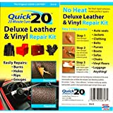 1 X Quick 20 Leather & Vinyl Repair Kit: Mends Tears, Cuts, Holes & Burns - Furniture, Sofa, Couch, Car, Luggage, Rv & More.