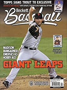 Back Issue Beckett Baseball Monthly Price Guide January 2015 Madison Bumgarner Giants Cover