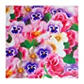 """Tischdecke Wachstuch Abwaschbar """"Blütenmeer"""" 138cm Rund (174-00R) von FLORISTA - Gartenmöbel von Du und Dein Garten"""