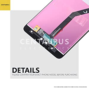 LCD Touch For ZTE Blade Z Max Z982 / ZMax Pro 2 / Sequoia 6.0 Assembly LCD Display Touch Screen Digitizer Panel Glass Combo Complete Full Replacement Parts Black
