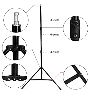 SH Telescopic Tube Background Support Pole and Stand, 9 x 10FT Heavy Duty Background Stand Backdrop Support System Kit with Carry Bag for Photography Photo Video Studio (Tamaño: 2.88x3M/9.5x10FT)