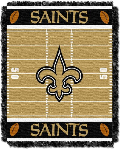 NFL New Orleans Saints Field Woven Jacquard Baby Throw Blanket, 36x46-Inch at Amazon.com