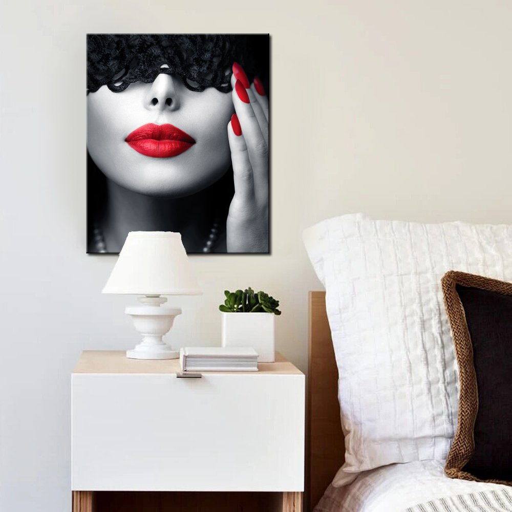 Red Lips Sexy Photo Poster