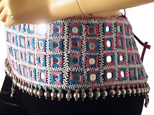 [Dance Wear Costume Belt Vintage Rare Kuchi Handicraft Outfit Apparel Metal Beads] (Banjara Dance Costumes)