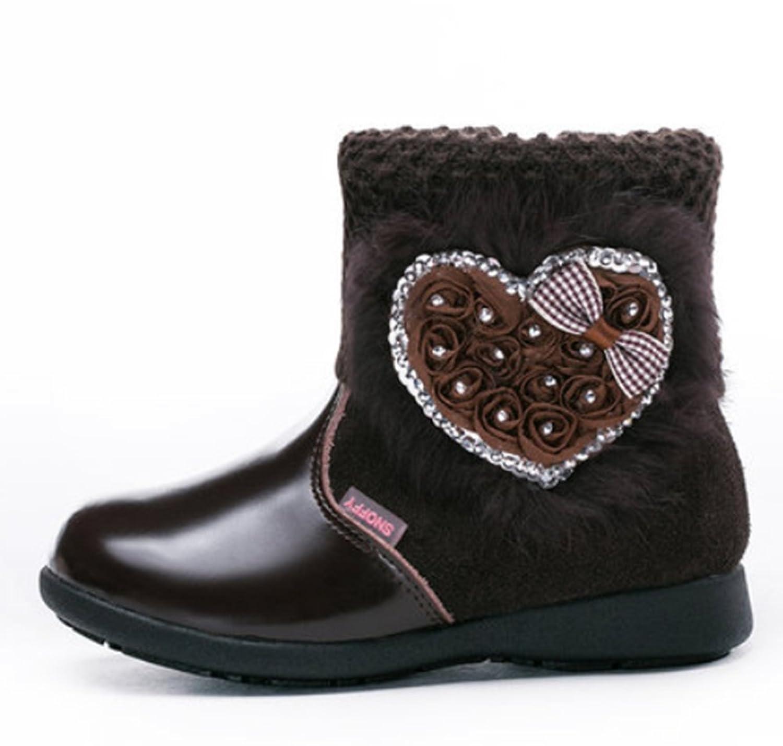 Schöne Winter warm Anti-Rutsch Leder Stiefel snow boots/Schneestiefel Kinder-Schneeschuhe Jungen Stiefel Mädchenbaumwollstiefel Kinder warmen stiefel Fashion Kinder Schuhe jetzt kaufen