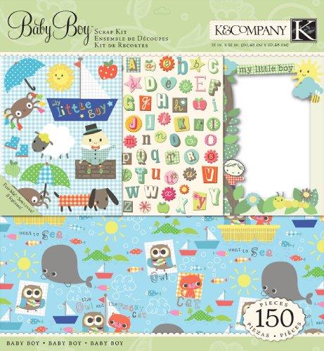 K&Company Jillian Phillips Nursery Rhymes Boy Scrap Kit, 12-by-12-Inch
