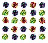 MYLAR Crinkle Balls Cat Toys - 4 Pack, 7 Pack, 12 Pack, 25 Pack, 36 Pack or 46 Pack