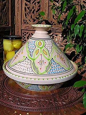 Medium Tunisian cooking tagine in lime from Maroque
