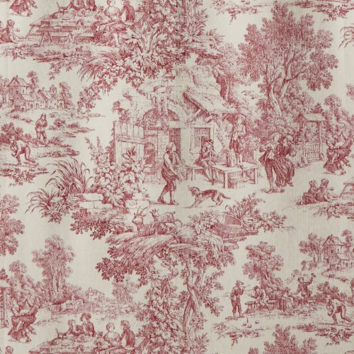 Victoria Park Toile Bathroom Shower Curtain Red Free Shipping New Ebay