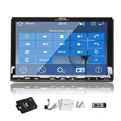 New Win 8 systššme de 7 pouces en voiture Dash Navigation GPS Lecteur de DVD Audio StšŠršŠo šŠcran tactile HD avec USB / SD / am / fm / bluetooth + gratuit + Antenne GPS gratuit 4GB GPS Map