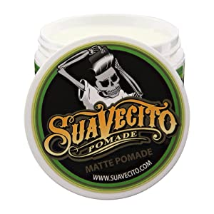 SUAVECITO Shine Free Matte Pomade for Men, 4 Ounce