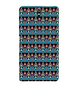 Colourful Pattern 3D Hard Polycarbonate Designer Back Case Cover for Sony Xperia C5 Ultra Dual :: Sony Xperia C5 E5533 E5563