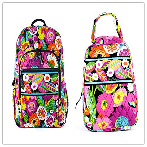 Vera Bradley Campus Backpack and Lunch Bunch (Va Va Bloom)