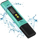 PH Meter with Automatic Calibration, 7Pros High Accuracy Pen Type Water Quality Tester, 6 pH Buffer Powder Packets, Best Tool for Testing PH of Fish Tank, Pool, Pond, Kombucha, Wine and Drinking Water (Color: multicolor)