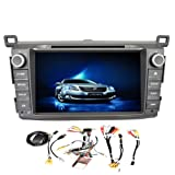 GPS Navigation Android 4.4 Capacitive Touch Screen Car DVD Player For Toyota RAV4 RAV 4 2013-2014 8 Inch Automotive Accessory MP4 Video Receiver Audio Multimedia CD FM AM Autoradio Stereo System