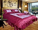 El Sandalo Indian Wedding Red King Size Bedding Set ,Width: 80 in, Height: 100 in