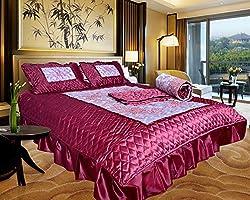 Urban style Satin Designer Wedding Bedding set, set of 4 pcs