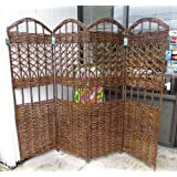Master Garden Products 4-Panel Willow Screen Divider, 72 by 60-Inch at Sears.com