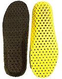 Heal foot 軽量穴空き加工 通気性抜群の衝撃吸収インソール 適度な固さ ソフトクッション 低反発 防臭 ランニング ウォーキング スポーツ 立ち仕事 疲労緩和サポート 底の薄い靴などに (S)