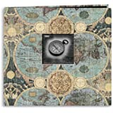 Pioneer 12 Inch by 12 Inch Postbound Frame Front Memory Book, Globes Design