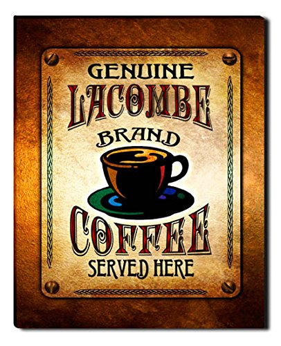 Lacombe Brand Coffee Gallery Wrapped Canvas Print (Lacombe Coffee compare prices)