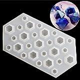 Diamond DIY Silicone Stencil Craft Mold Mold Necklace Jewelry Resin Pendant Durable (Color: Black, Tamaño: 122mm (long) * 50mm (diameter) * 65mm (diameter))