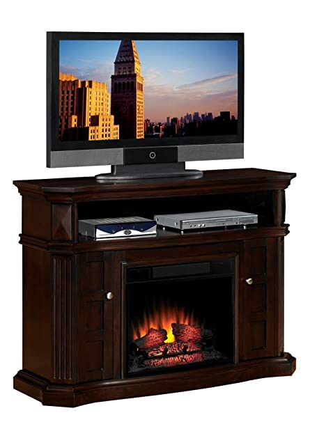 "ClassicFlame 23MM774-E451 Bellemeade TV Stand for TVs up to 60"", Espresso (Electric Fireplace Insert sold separately)"