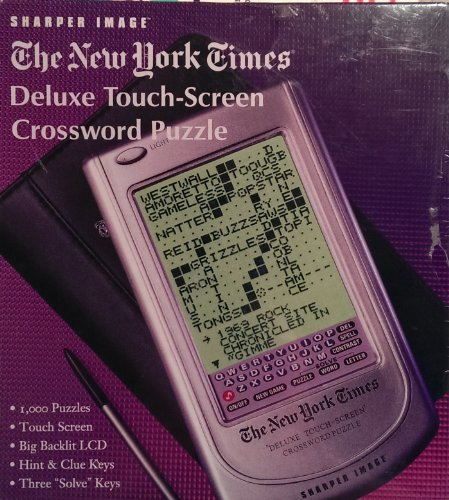 Sharper Image The New York Times Deluxe Touch-Screen Crossword Puzzle - 1