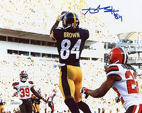Pittsburgh Steelers Antonio Brown Autographed Signed 8x10 Photo - JSA Authentication Pic A - Signed NFL Football Pictures (Steelers Pics compare prices)