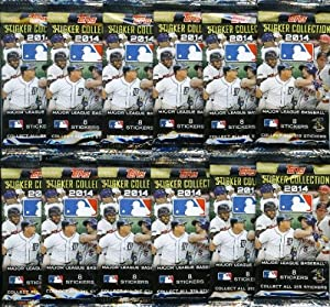 2014 Topps MLB Baseball Stickers Special Collectors Package with 10 Packs and 80 Brand New MINT Stickers !