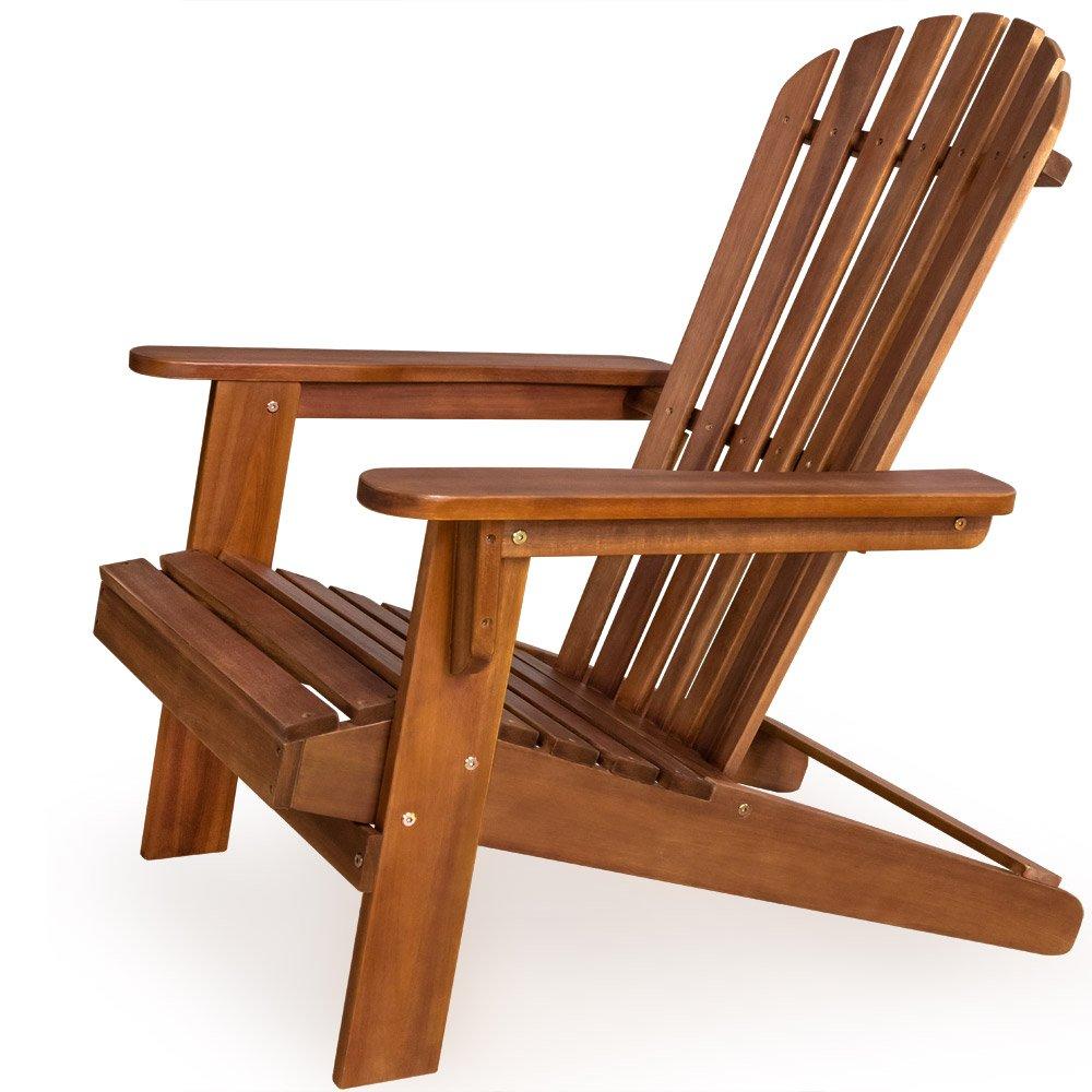 Sonnenstuhl Adirondack aus Akazienholz Liegestuhl Holzstuhl Deckchair kaufen