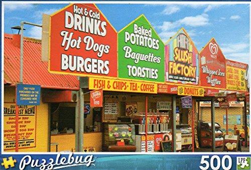 Fast Food Stalls - Puzzlebug - 500 Pc Jigsaw Puzzle + Free Bonus 2015 Magnetic Calendar
