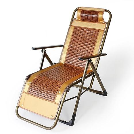 Ali Silla de bambú del hogar de verano / silla plegable / silla del respaldo del ocio / silla de playa ( Color : Marrón )