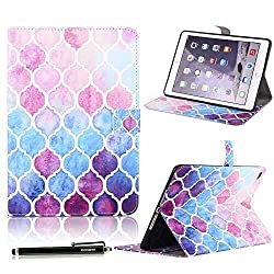 iPad Air 2 Case, HAOCOO Stylish Art Print Ultra Slim PU Leather Flip Smart Stand Protective Case Cover with Card Slot for Apple iPad Air 2(Moroccan)