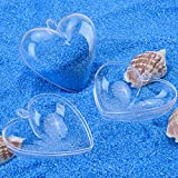 Outus Plastic Bath Bomb Mold Heart Shape DIY, 5 Sets