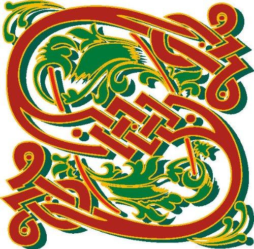Imagen 1 de Etiqueta de la pared multicolor MF035 S ornamento o floral tribal maravilloso carta 120 x 117 cm