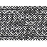 Viskose-Jersey blau-weiß geometische Motive 150cm