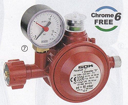 GOK Gasinstallation – 30 mbar Niederdruckregler 1,5 kg/h – mit integrierter Überdrucksicherheitseinrichtung – kaufen