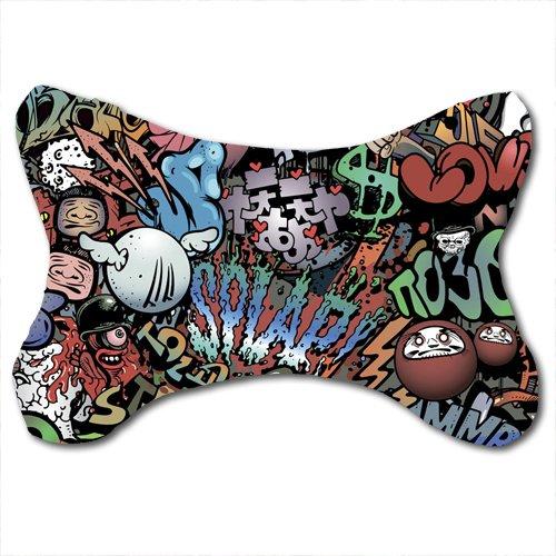 2PCS Car Neck Pillows, Zombie Pattern, Cotton Car-Seat Neck Pillow Cases in 31 * 23 CM