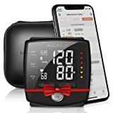 MOCACuff Bluetooth Blood Pressure Monitor, Fully Automatic Accurate Wrist, FDA Blood Pressure Monitor Cuff 99 memory, Portable with hard shell Case and Tracking App for Apple iPhone and Samsung- Black (Color: Black)