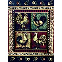 Rooster Style Area Rug 5 Ft. 2 In. X 7 Ft. 3 In. Design # L-379