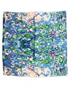 Dahlia Womens 100 Square Silk Scarf  Claude Monet 8220Water