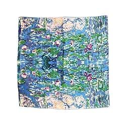Dahlia Women's 100% Square Silk Scarf - Claude Monet's Paintings