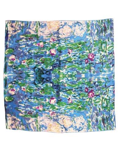 Dahlia Women s 100% Luxury Square Silk Scarf - Claude Monet s Paintings
