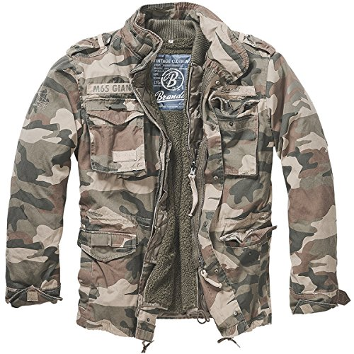Brandit Men's M-65 Giant Jacket Light Woodland 0