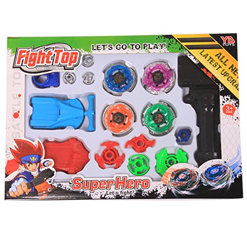 Beyblade Top Flight Rapidity Metal Fusion Fight Lacuncher Master Rare Toy Set