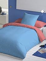 Euromoda Juego de Funda Nórdica Vichy (Azul / Rojo)