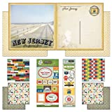 Scrapbook Customs Themed Paper and Stickers Scrapbook Kit, New Jersey Vintage